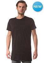 SELECTED Long Zip O-Neck S/S T-Shirt black