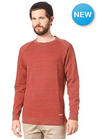 SELECTED Louis Crew Neck Sweat fired brick m�lange