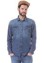 SELECTED Luke L/S Shirt medium blue denim
