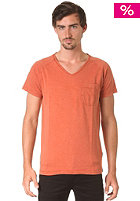 SELECTED Marly V Neck S/S T-Shirt potters clay