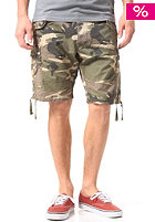 SELECTED Maze Camou Cargo Short dark green