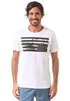 SELECTED Monte O-Neck white/flag