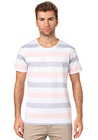 SELECTED Morris Neon O-Neck S/S T-Shirt stripes/navy & neon orange