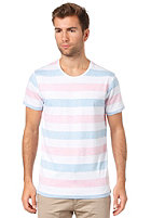SELECTED Morris Neon O-Neck S/S T-Shirt stripes/neon blue & neon pink