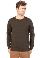 SELECTED Nevada Split Crew Neck Knit forest night