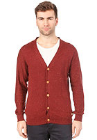 SELECTED Nolan Grandad  Knit Cardigan fired brick m�lange