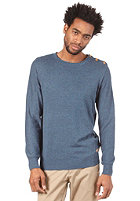 SELECTED Nolan Split Crew Knit Sweat ensign blue