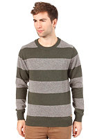 SELECTED Oliver Stripe Crew Neck forest night