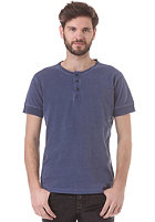 SELECTED Phil Split Neck S/S T Shirt blue depths