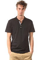 SELECTED Pima Ask Joe S/S Split Neck T-Shirt black