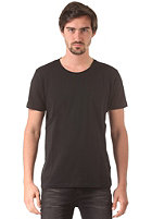 SELECTED Pima Dave Deep O-Neck S/S T-Shirt black