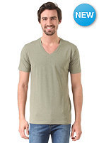 SELECTED Pima Drill Deep V-Neck green olive