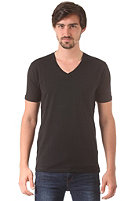 SELECTED Pima Drill Deep V-Neck S/S T-Shirt black