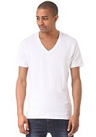 SELECTED Pima Drill Deep V-Neck S/S T-Shirt bright white