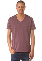 SELECTED Pima Drill Deep V-Neck S/S T-Shirt huckleberry