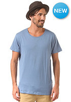 SELECTED Pima New Dave Deep O-Neck moonlight blue