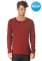 SELECTED Plank O-Neck Longsleeve syrah
