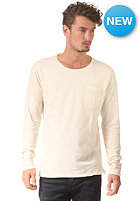 SELECTED Plank O-Neck Longsleeve white asparagus