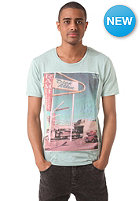 SELECTED Rambler S/S O Neck T-Shirt blue surf