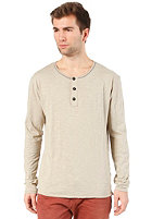 SELECTED Ray Split Neck Longsleeve abbey stone