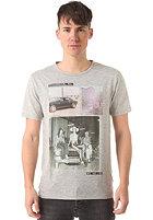 SELECTED Santa Fee O-Neck S/S T-Shirt light grey melange