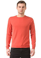 SELECTED Seb Patch Crew Neck IDX burnt sienna