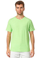 SELECTED Slate Neon V-Neck S/S T-Shirt neon green