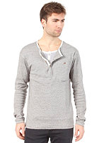SELECTED Stoke Double Split Neck Longsleeve grey melange