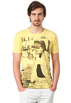 SELECTED Vice O-Neck S/S T-Shirt lemon drop