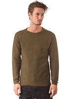 SELECTED Vince Crew Neck Knit Sweat dark green