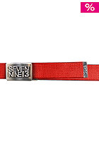 SEVEN NINE 13 Jaws Belt red