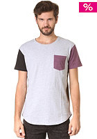 SILENT THEORY Super II S/S T-Shirt grey marle multi