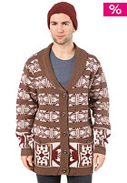 SITKA Unisex Chestnut Cardigan brown/ ivory