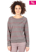 SITKA Womens Arwood Yarn Dye Crew Neck burgundy stripe