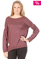 SITKA Womens Delora Drop Shoulder Knit Sweat burgundy