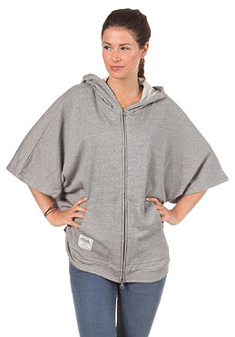 SITKA Womens Sunniva Poncho Hooded Zip Sweat marble grey