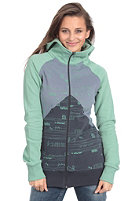 SIXXA Womens Tragada Hooded zip Sweat dusty jade
