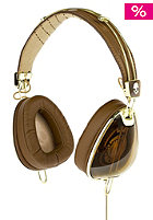 SKULLCANDY Aviator Headphones brown/gold w/mic3