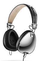SKULLCANDY Aviator Headphones chrome/black white/mic3
