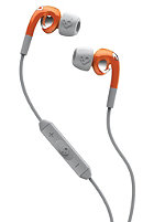 SKULLCANDY Fix In Ear Headphones athletic orange/grey w/mic