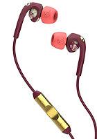 SKULLCANDY Fix In-Ear W/Mic 3 Headphones floral/burgundy/rose gold