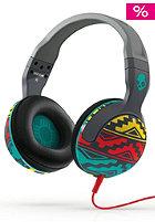 SKULLCANDY Hesh 2 Over-Ear W/Mic1 Headphones santa fe grey/red/aqua