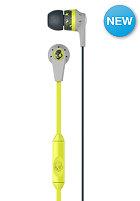 SKULLCANDY Inkd 2.0 In-Ear W/Mic 1 Headphones light gray/hot lime/dark gray