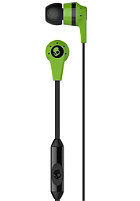 SKULLCANDY INKD 2.0 In Ear With Mic lime green black lime green