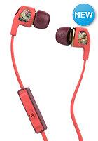 SKULLCANDY Smokin Bud 2 In-Ear W/Mic 1 Headphones coral/floral/burgundy