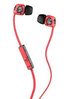 SKULLCANDY Smokin Bud 2 In-Ear W/Mic 1 Headphones hot red black black