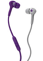 SKULLCANDY Smokin Buds Headphones athletic purple/grey w/mic
