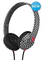 SKULLCANDY Uprock On-Ear Headphones polkadot/charcoal/red