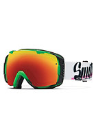 SMITH OPTICS I/O Goggle Neon Baronvon Fancy red sol-x mirror /blue sensor mirror
