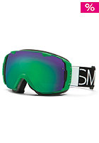 SMITH OPTICS I/O SPH Kelly Blockhead Goggle green sol-x mirror/red sen. mirror